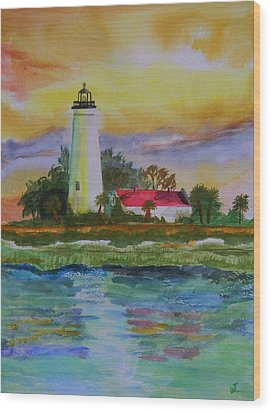 St. Marks Lighthouse-2 Wood Print by Warren Thompson