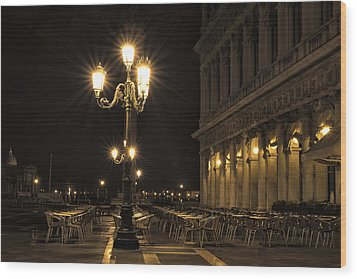 St Mark's Square At Night Wood Print by Marion Galt