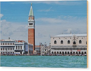 Wood Print featuring the photograph St. Mark's Square by William Wyckoff
