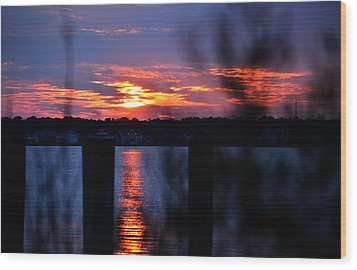 Wood Print featuring the photograph St. Marten River Sunset by Bill Swartwout