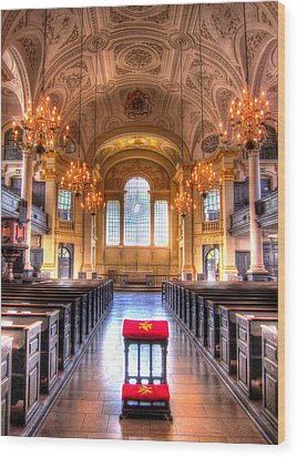 St Martin In The Fields Wood Print by Andreas Thust
