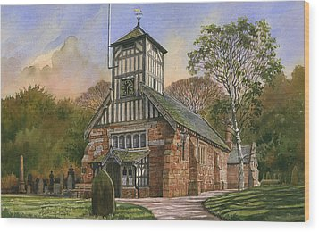 St. Mary And All Saints Wood Print by Anthony Forster