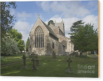 St Mary Magdalene Church Brampton Cambridgeshire England Wood Print by Keith Douglas