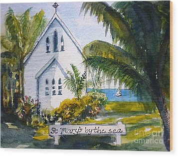 St Marys By The Sea - Original Sold Wood Print by Therese Alcorn