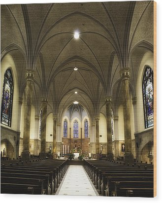 Wood Print featuring the photograph St Mary's Catholic Church by Lynn Geoffroy