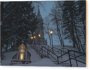 St Mary's Christmas Wood Print by James  Meyer