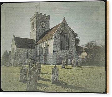 St Marys Church Dinton And Churchyard Wood Print by John Colley