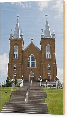 Wood Print featuring the photograph St Mary's Church In Wilno Ontario Canada by Marek Poplawski