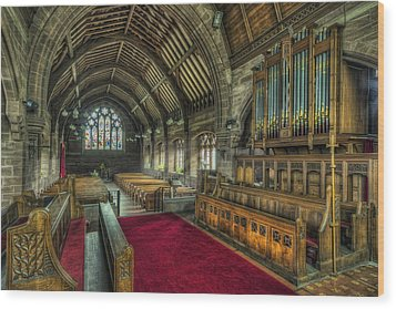 St Marys Church Organ Wood Print by Ian Mitchell