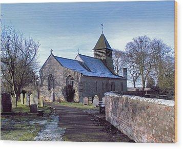 St Marys Church Raskelf Wood Print by Trevor Kersley