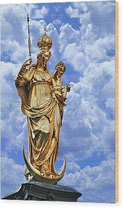 St Mary's Column Marienplatz Munich Wood Print by Christine Till