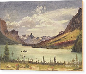 St. Marys Lake- Glacier Park 1935 Wood Print