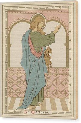 St Matthew Wood Print by English School