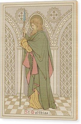 St Matthias Wood Print by English School
