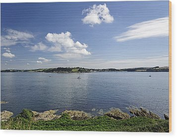 St Mawes From Pendennis Point Wood Print by Rod Johnson