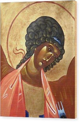 St. Michael Wood Print by Joseph Malham
