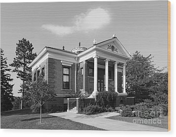 St. Olaf College Steensland Hall Wood Print by University Icons