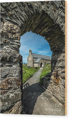 St Patrick Arch Wood Print by Adrian Evans