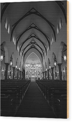 St Patricks Cathedral Fort Worth Wood Print by Joan Carroll