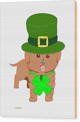 St. Patrick's Dog Wood Print