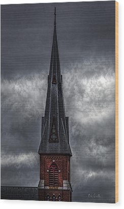 St. Patricks Spire  Wood Print by Bob Orsillo
