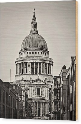 St Pauls London Wood Print by Heather Applegate