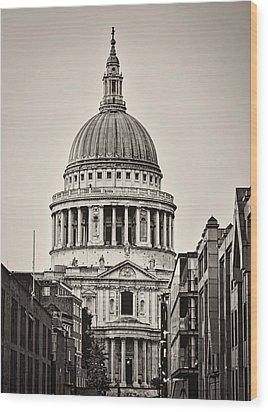 St Pauls London Wood Print