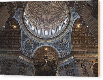 St. Peters Basilica Wood Print by Corey Sheehan