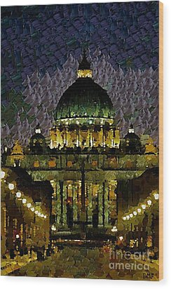St. Peter's Basilica Wood Print by Dragica  Micki Fortuna