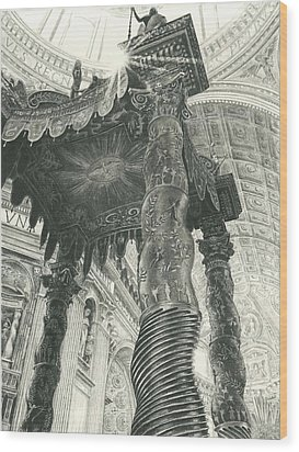 St. Peters Basilica  Wood Print by Norman Bean