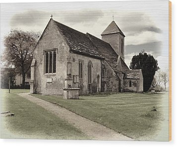 Wood Print featuring the photograph St Peters Church 1 by Paul Gulliver