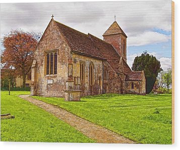 Wood Print featuring the photograph St Peters Church 2 by Paul Gulliver