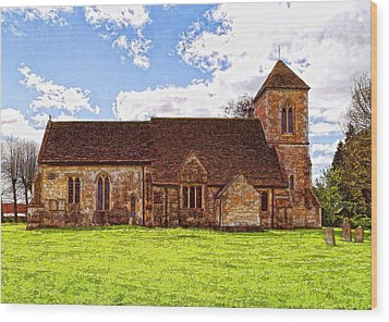 St Peters Church 4 Wood Print