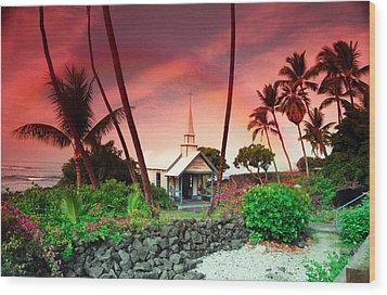 St Peters Church Wood Print by Randy Sylvia