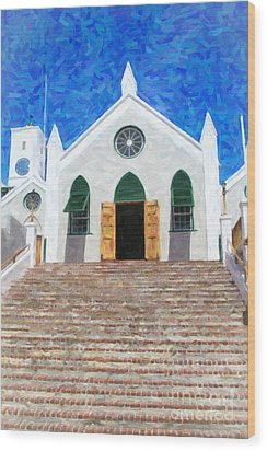 Wood Print featuring the photograph St. Peter's Church  by Verena Matthew