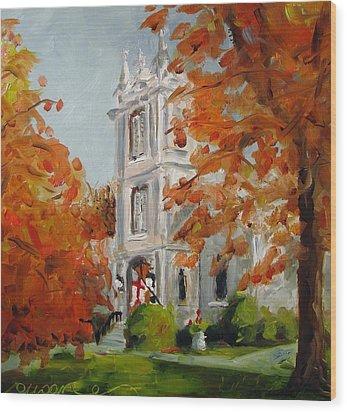 St Peters Episcopal Church Wood Print by Susan E Jones
