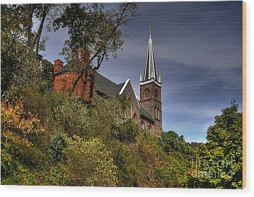 St. Peter's Of Harpers Ferry Wood Print by Lois Bryan