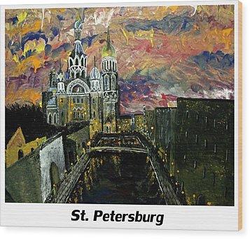 St  Petersburg Wood Print by Mark Moore