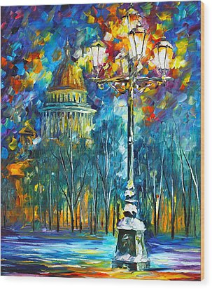 St. Petersburg New Wood Print by Leonid Afremov