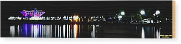 Wood Print featuring the photograph St. Petersburg Pier Panorama by Richard Zentner