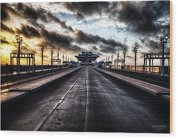 St. Petersburg Pier Sunrise  Wood Print
