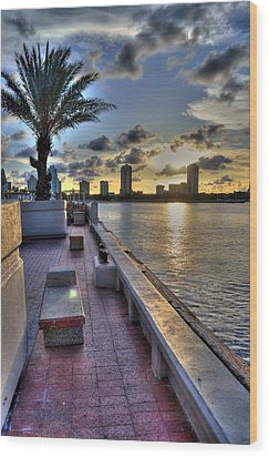 St. Petersburg Pier Wood Print