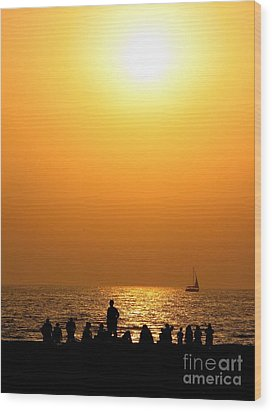 Wood Print featuring the photograph St. Petersburg Sunset by Peggy Hughes