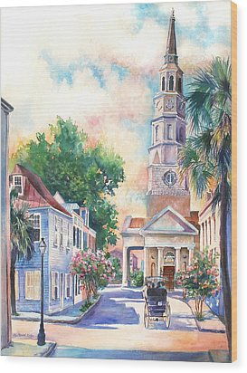 St. Philips Episcopal Church Wood Print by Alice Grimsley