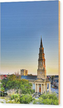 St. Phillips Church Wood Print by Drew Castelhano