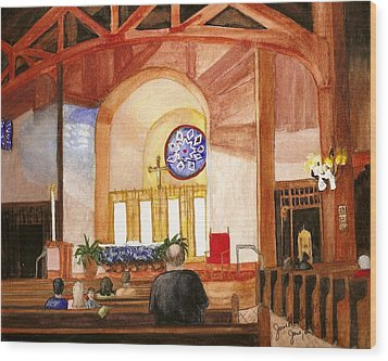 St. Raphaels - Early Morning Prayers Wood Print by June Holwell