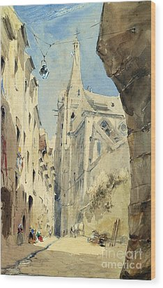 St. Severin Paris Wood Print by James Holland
