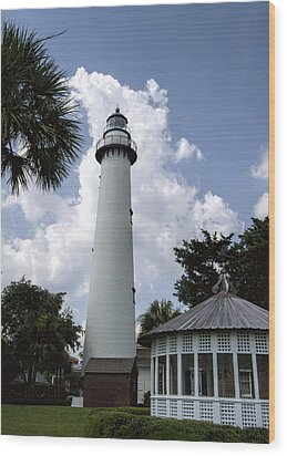 St. Simon's Island Georgia Lighthouse Wood Print