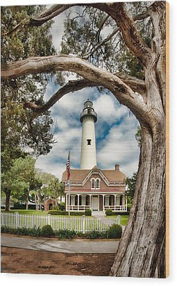 St. Simons Island Lighthouse  Wood Print by Brent Craft