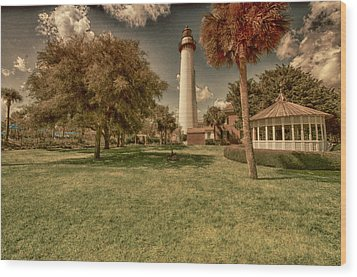 St. Simon's Island Lighthouse Wood Print